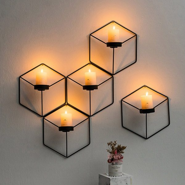 Black candlestick holder on Wall