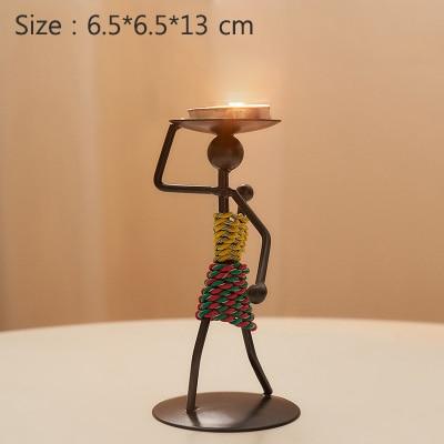 Head candlestick holder