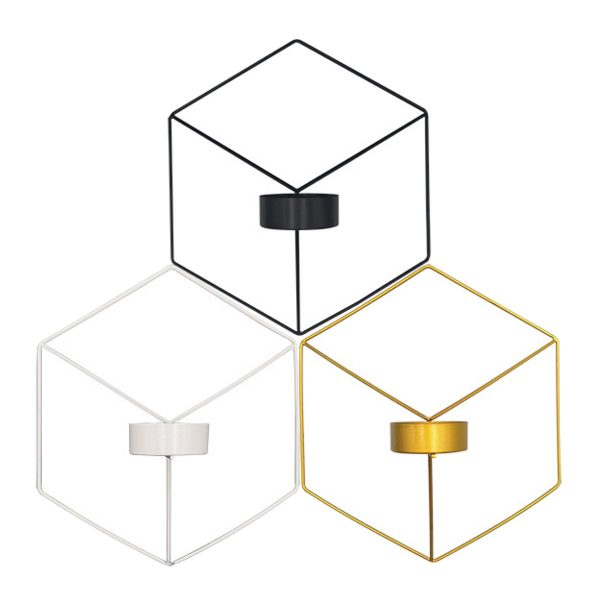 3 colors candlestick holder wallmounted