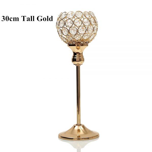 Gold candlestick holder
