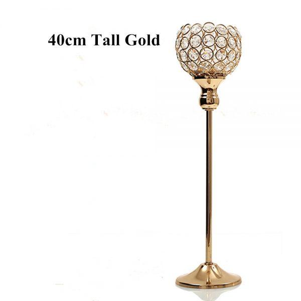 candlestick holder 40 cm tall gold