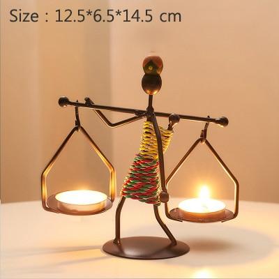 Metal candlestick holder