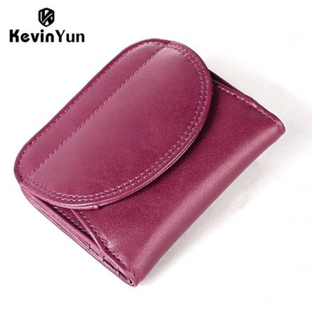 KEVIN YUN fashion women wallets genuine leather female small purse