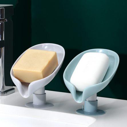 Soap dish Leaf Soap Box Drain Soap Holder